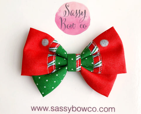Christmas patch Madi Cotton Bow