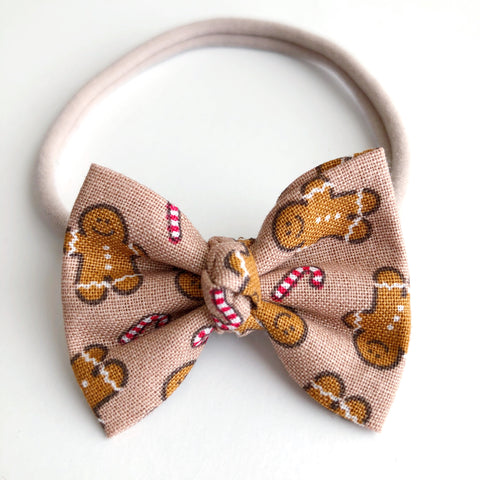 "Gingerbread Man 2"" Chloe bow"