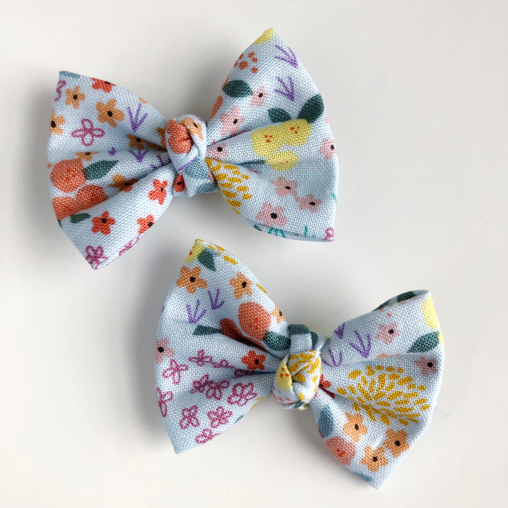 "Simple Floral 2"" pigtail set"