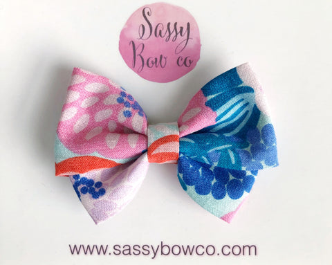 Colorful Floral Madi Cotton Bow