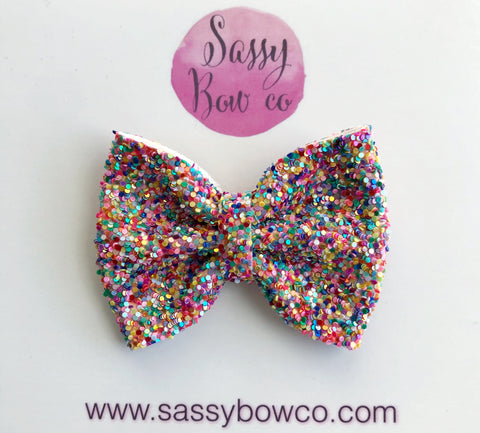 Candy Dot small Glitter Bow