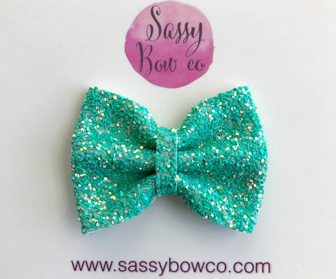 Lagoon small Glitter Bow