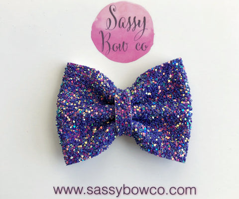 Sea Urchin small Glitter Bow