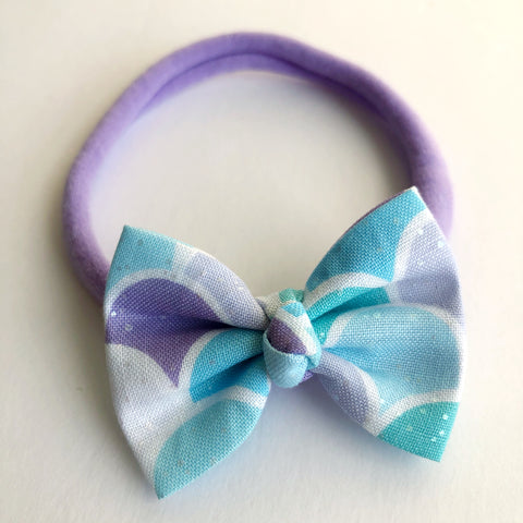 "Shimmer mermaid scales 2"" Chloe bow"