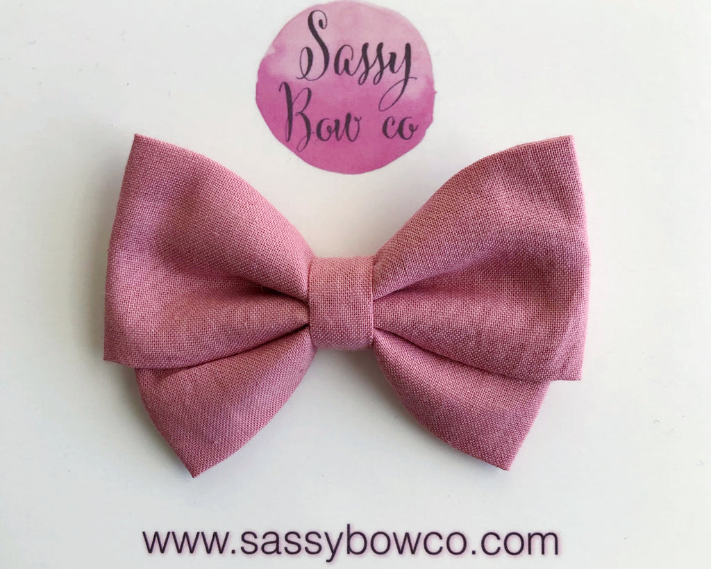 Mauve Madi Cotton Bow