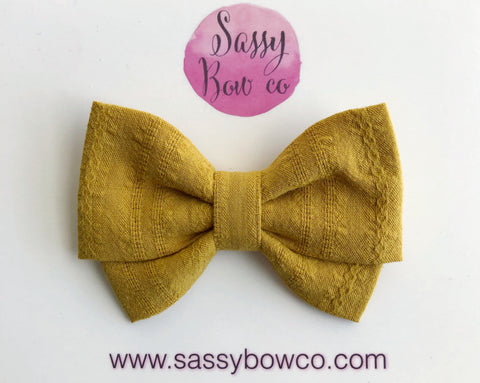 Canary Madi Cotton Bow