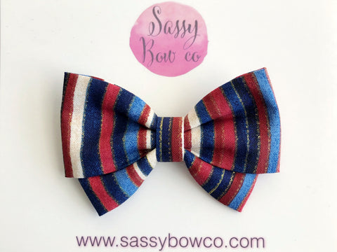American Stripes Madi Cotton Bow