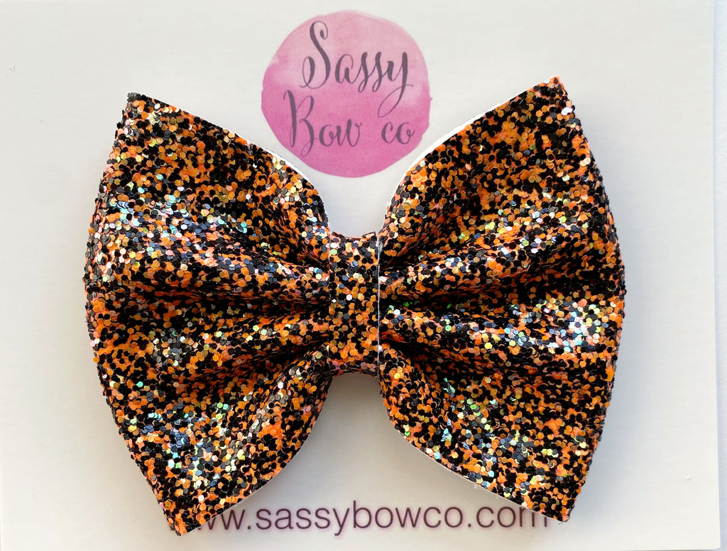 Halloween Town Large Glitter Bow