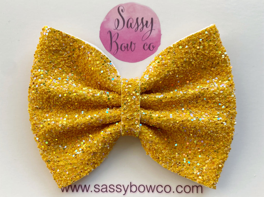 Hay Ride Large Glitter Bow