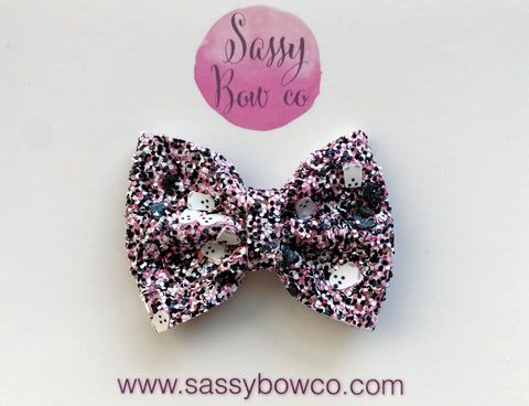 Girly Ghost Small Glitter Bow