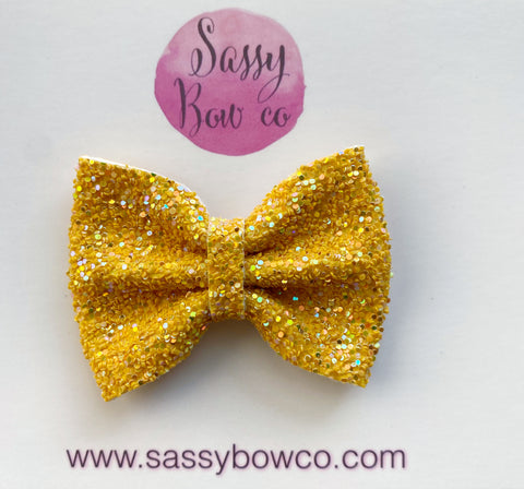 Hay Ride Small Glitter Bow