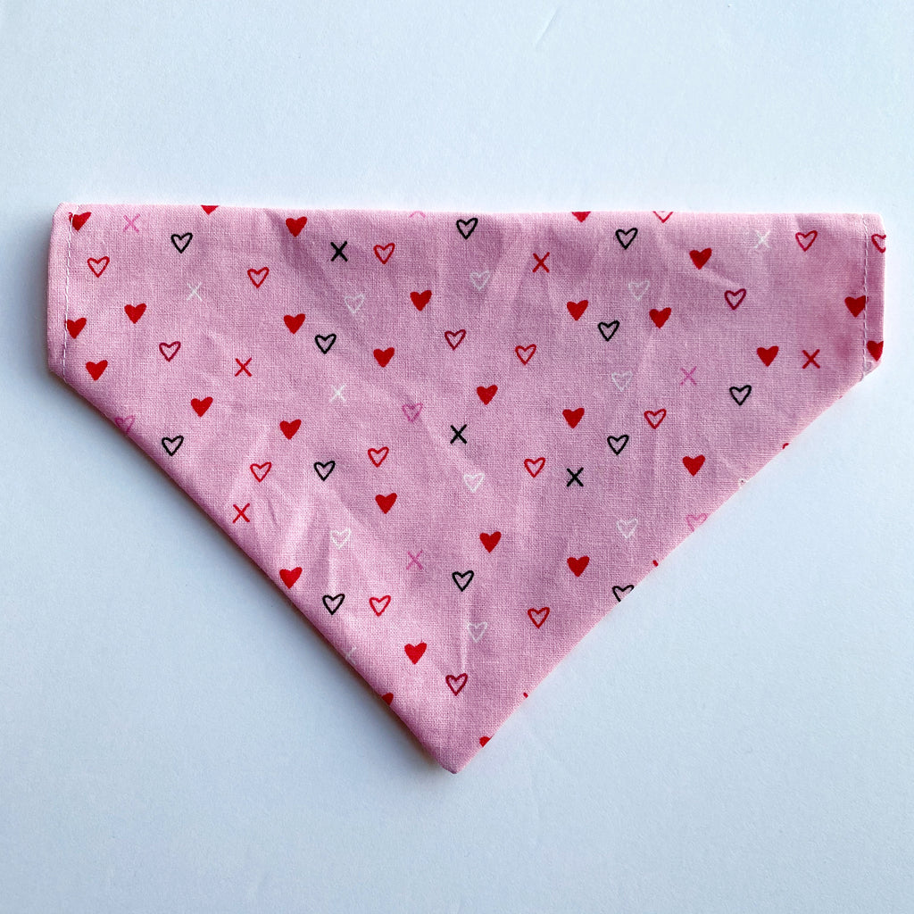 Sparkle Heart Reversible Dog Bandana