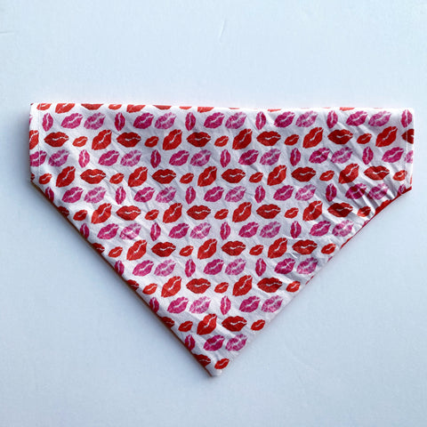 Kiss Reversible Dog Bandana