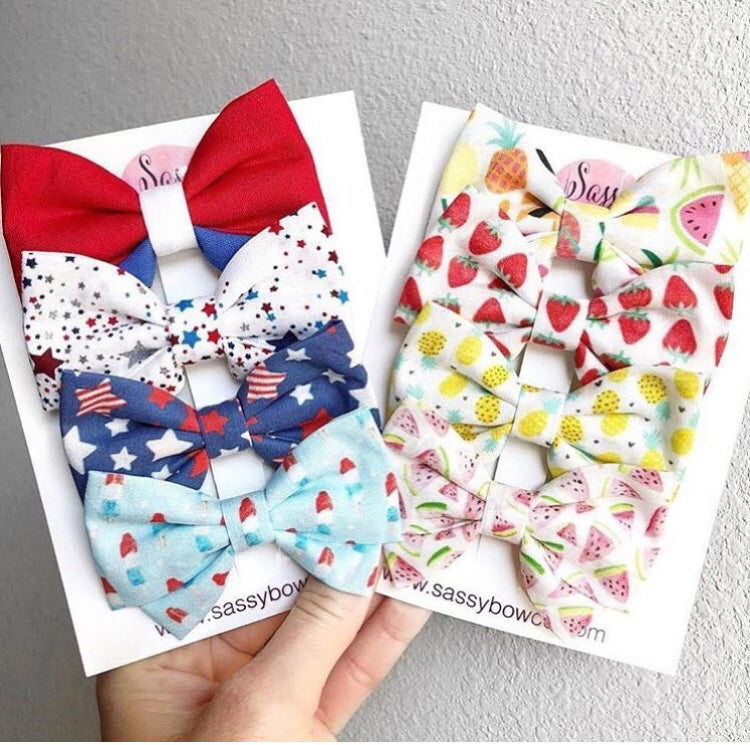 GRAB BAG - Madi cotton bows (solid or pattern)