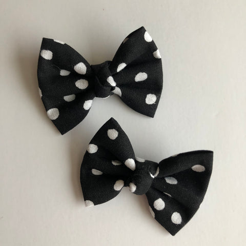 "Mickey black Dot 2"" pigtail set"