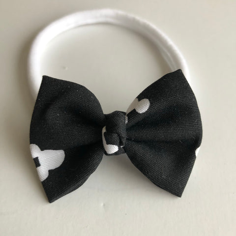 "Black & White Mickey 2"" Chloe bow"