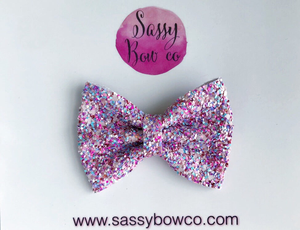Small Lollipop Glitter Bow