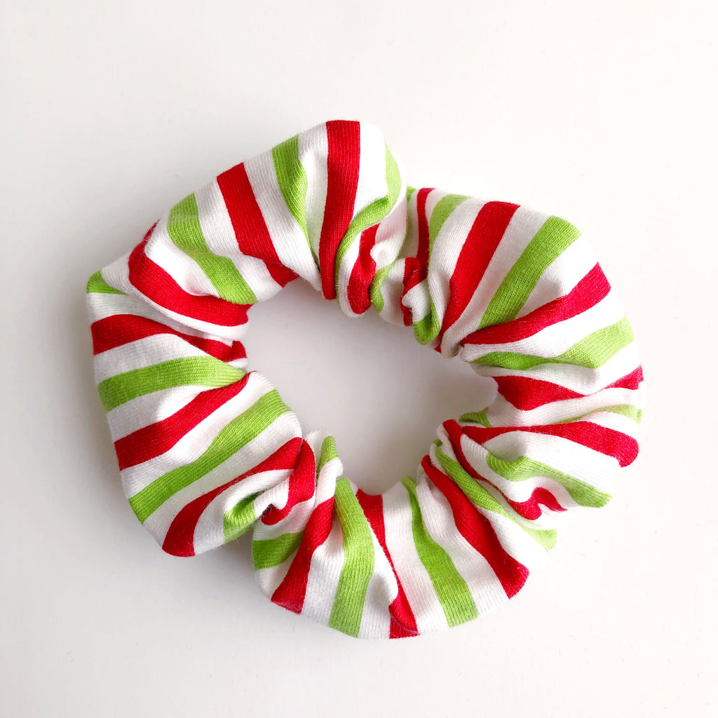 Christmas Stripes Scrunchie