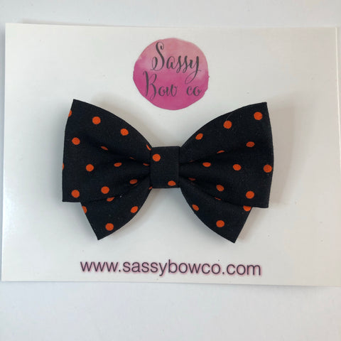 Halloween Dot Madi Cotton Bow