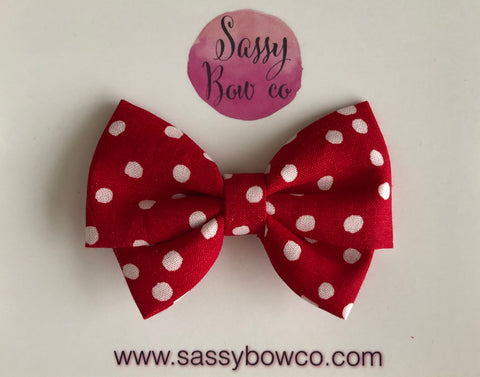 Mickey Red Dot Madi Cotton Bow