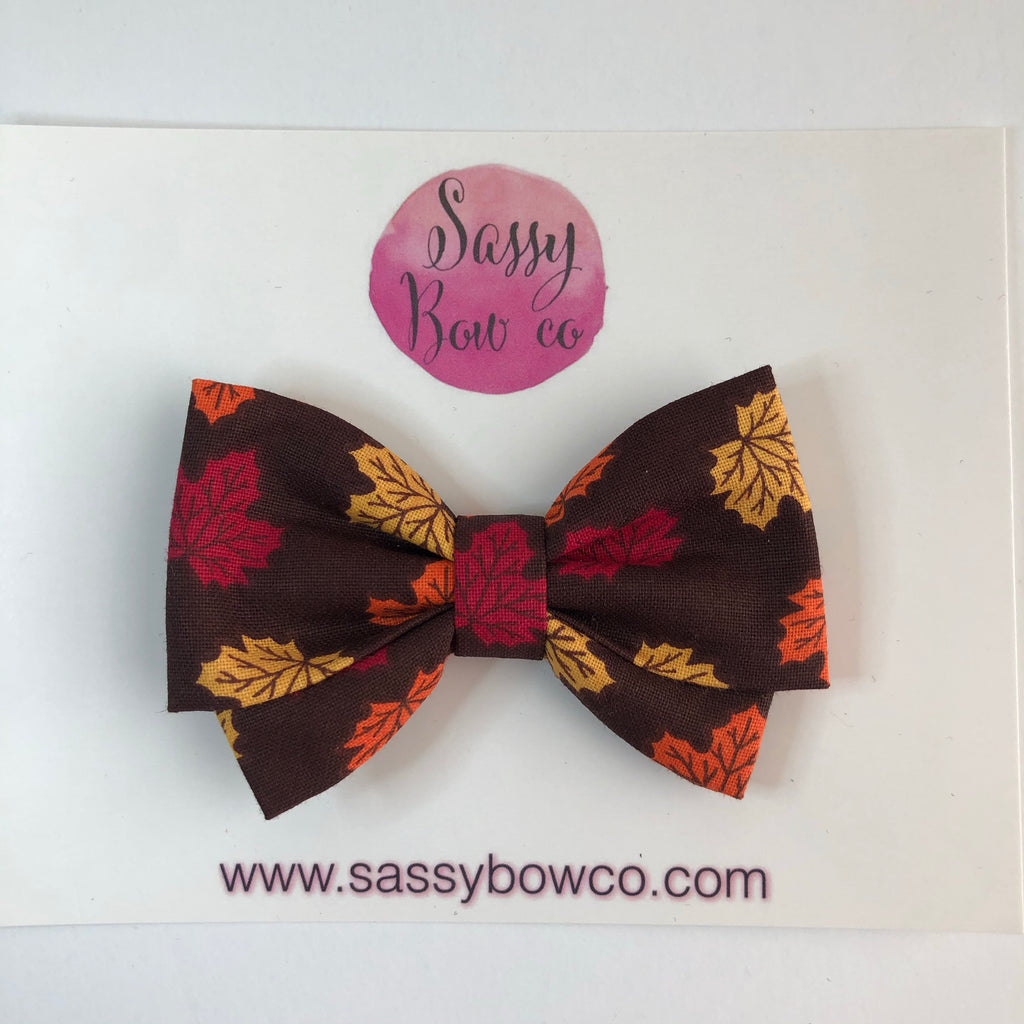 Autumn Leaves Madi Cotton Bow