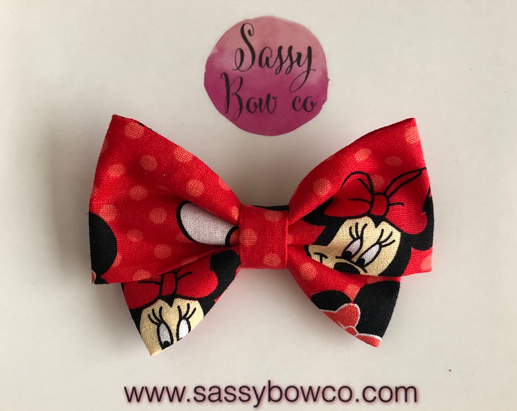Minnie Face Madi Cotton Bow