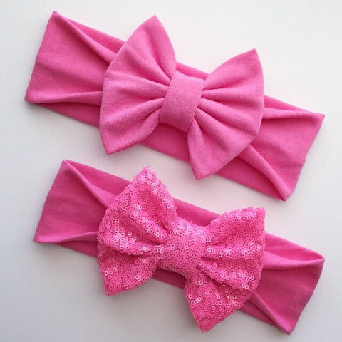 Bright Pink Headbands