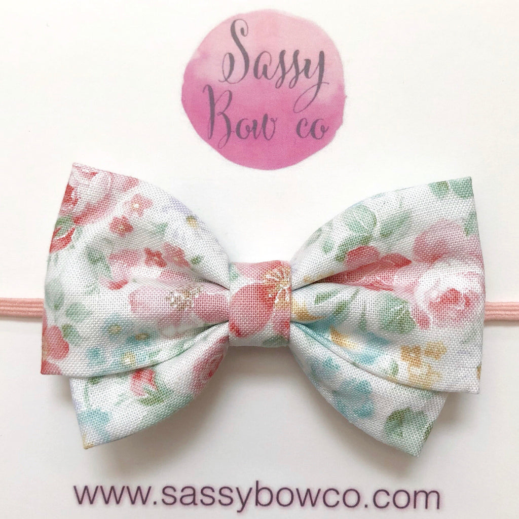 Vintage Floral Madi Cotton Bow