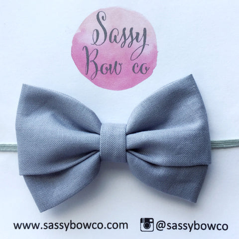 Grey Madi Cotton Bow