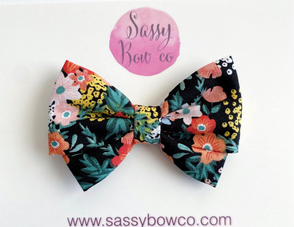 Tropical Floral Madi Cotton Bow