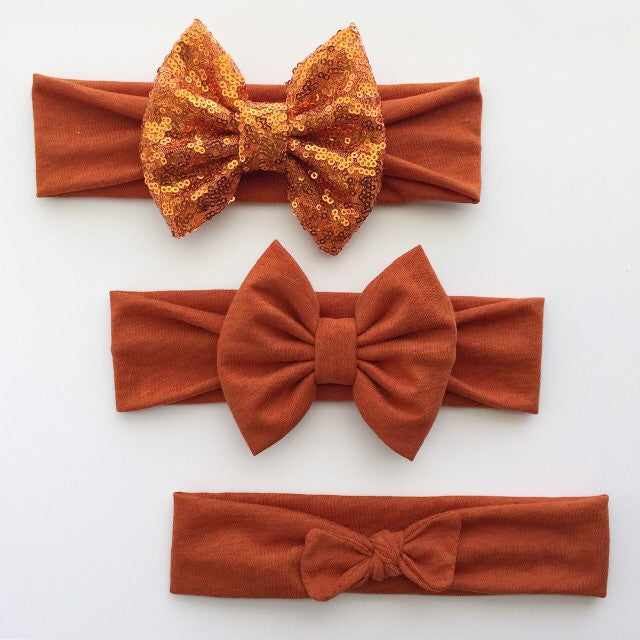 Burnt Orange Headbands