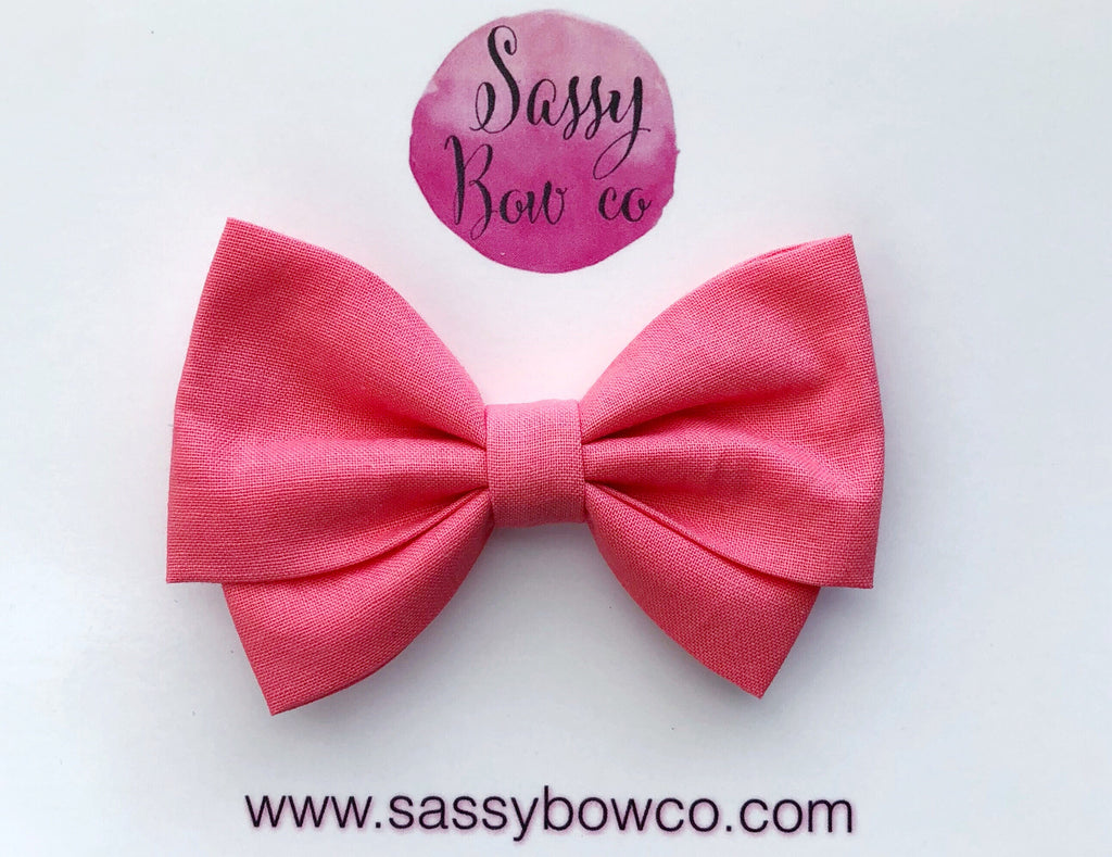 Guava Madi Cotton Bow