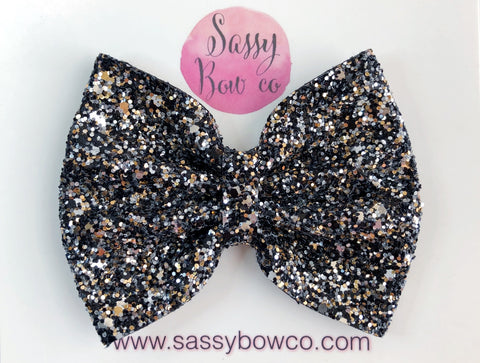 Large Full Moon Glitter Bow
