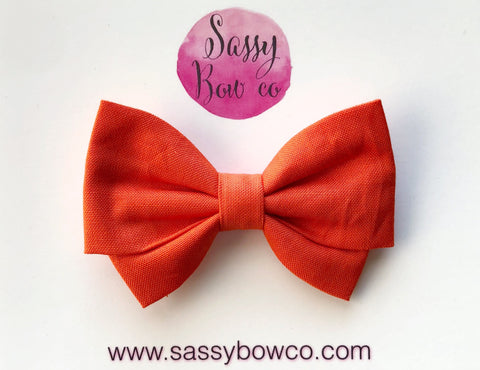 Bright Orange Madi Cotton Bow