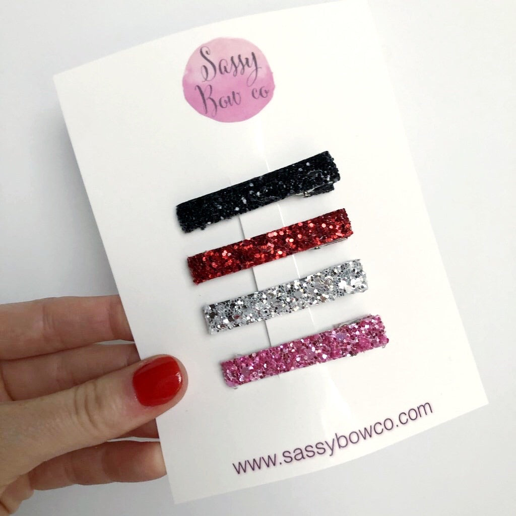 Mickey Glitter Clip Set