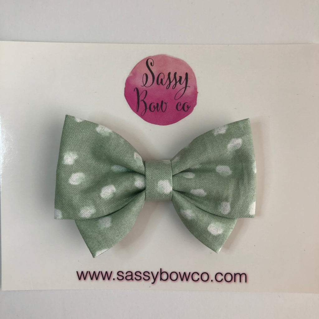 Sage Dot Madi Cotton Bow