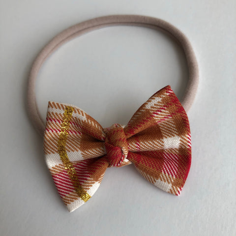 "Fall Flannel 2"" Chloe bow"