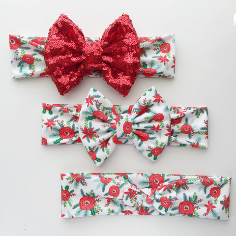 Holiday Floral Headbands