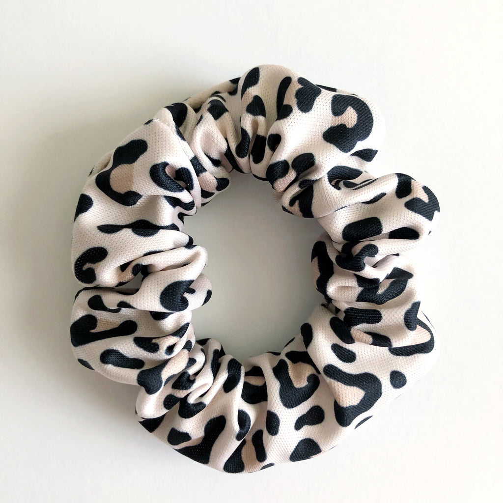 Cream Leopard Scrunchie