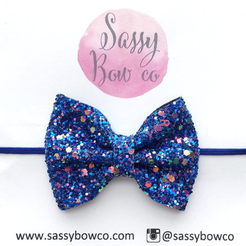 Small Midnight Sky Glitter Bow
