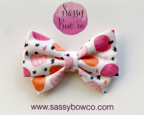 Girly Pumpkins Madi Cotton Bow