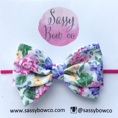 Spring Floral Madi Cotton Bow