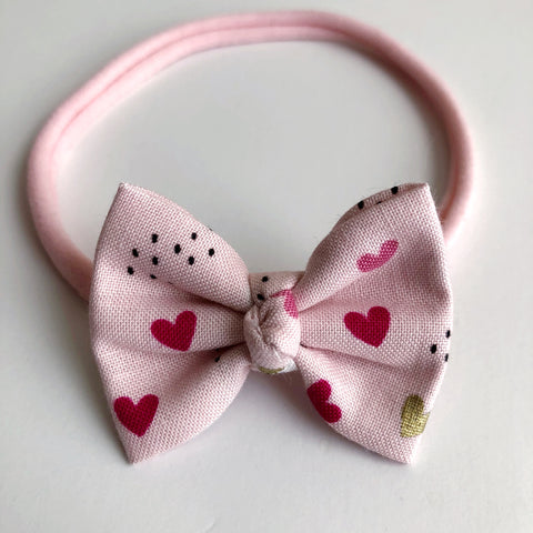 "Gold Hearts 2"" Chloe bow"