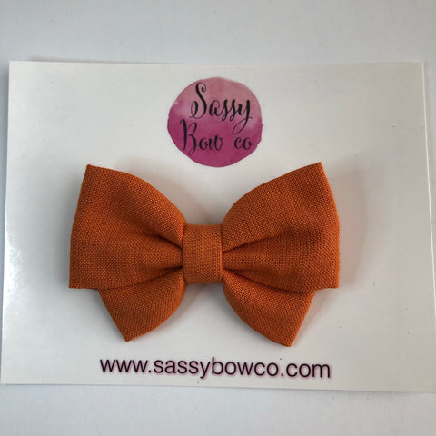 Harvest Orange Madi Cotton Bow