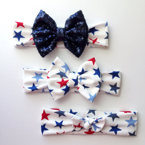 Red & Blue Star Headbands