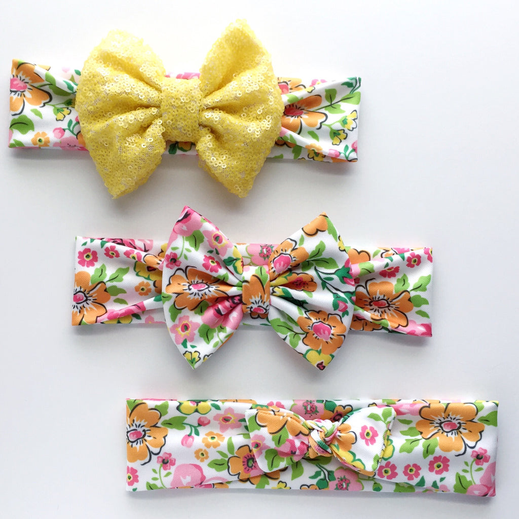 Bright Floral Headbands
