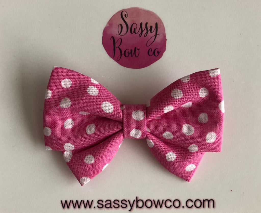 Mickey Pink Dot Madi Cotton Bow