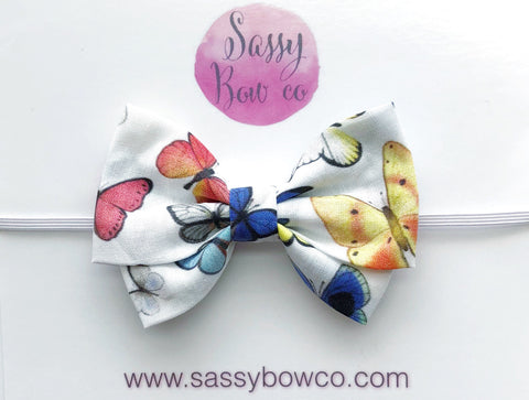 Butterfly Madi Cotton Bow