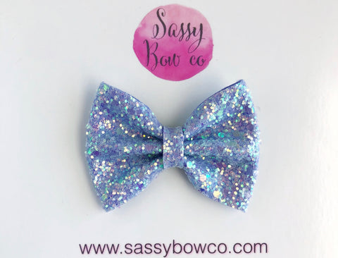 Mermaid Scales Small Glitter Bow
