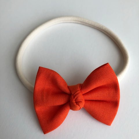 "Classic Orange 2"" Chloe bow"